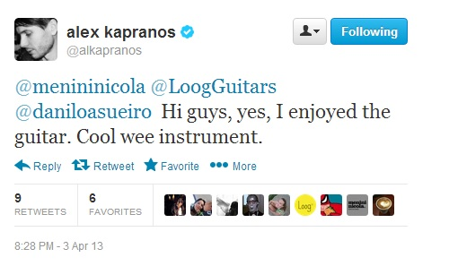 Tweet from Alex Kapranos - Loog Guitar