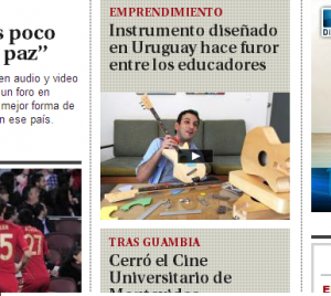 Loog Guitars on the El Pais front page
