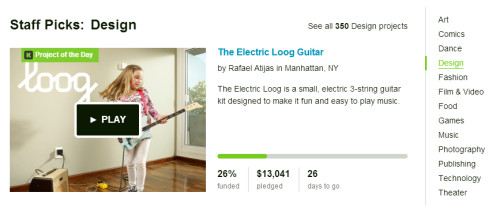 The Electric Loog is Project of the Day on Kickstarter!
