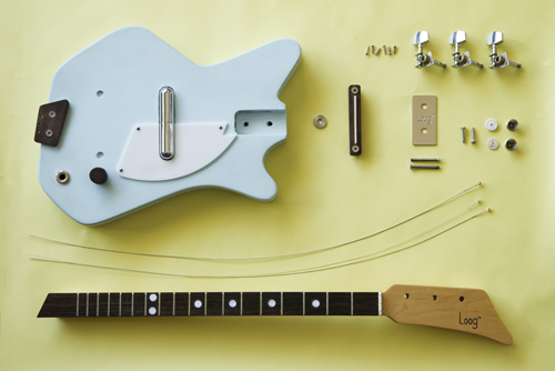 The unassembled Electric Loog Guitar