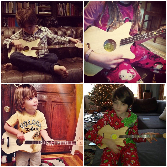 Kids with Loog Guitars