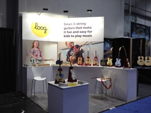 Loog Guitars Booth at NAMM 2014