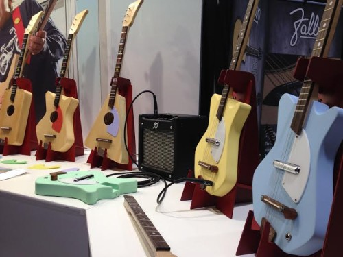 Electric and Acoustic Loog Guitars