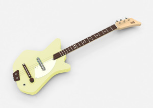 Yellow Electric Loog Guitar
