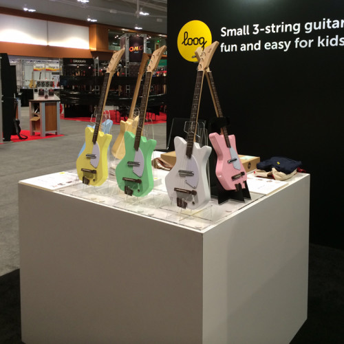 The Electric Loog Guitar at Summer NAMM