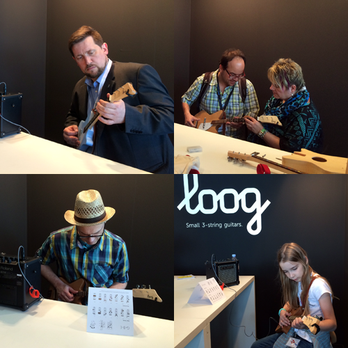 Loog Guitars at musikmesse - playing corner