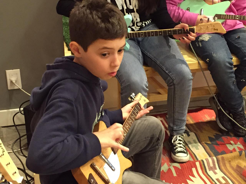 Loog Guitars and Levi's Kids