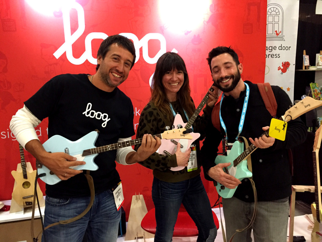 Loog Guitars at Toy Fair NY 2016
