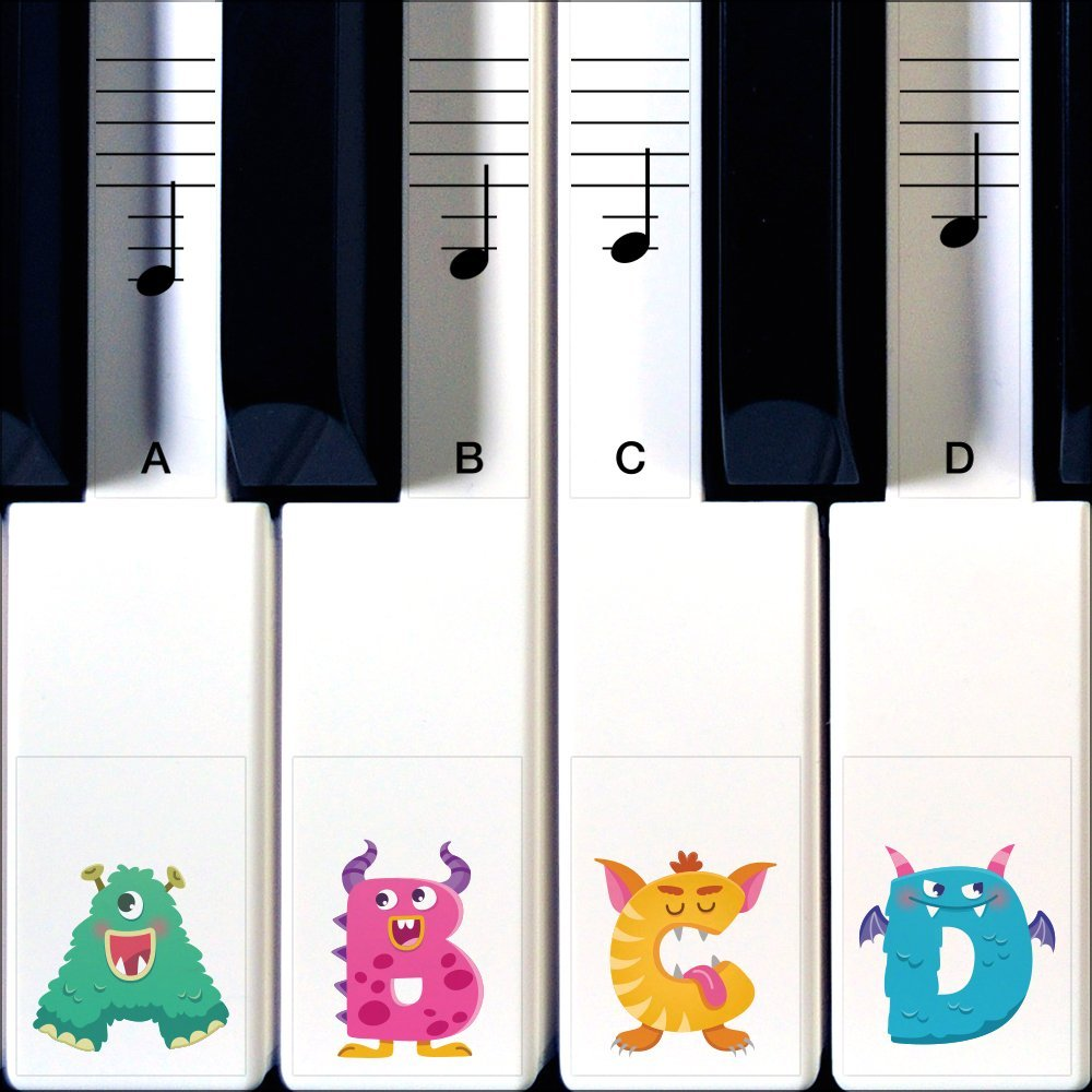 Monster Stickers for piano by Crosby Audio